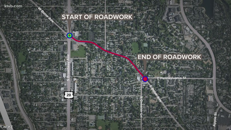 Expect delays on Boise Avenue over the next week