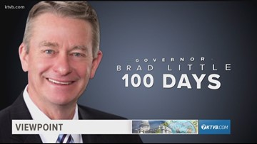 Viewpoint: Gov. Little marks first 100 days in office, discusses contentious legislative session