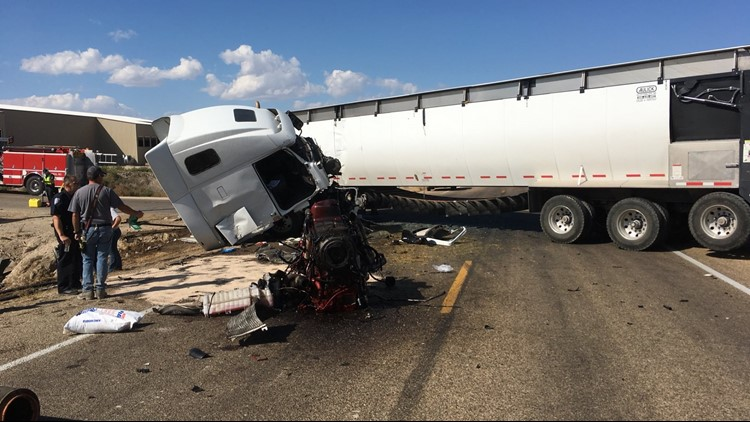 The crash happened shortly before 2:30 p.m. at the intersection of Highway 95 and Jacks Road, about three miles north of Wilder.