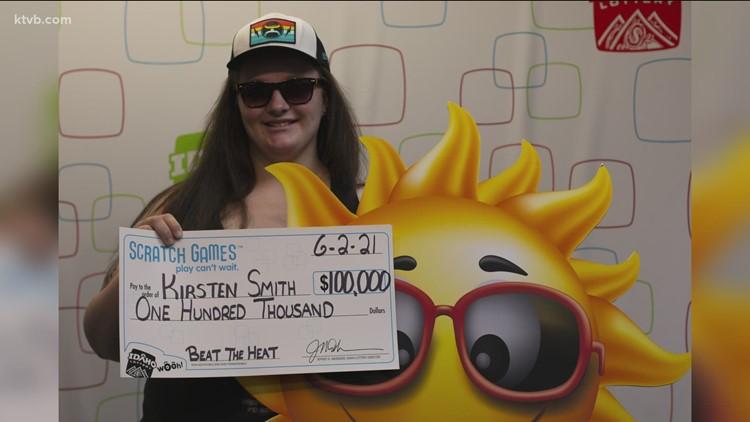 Woman wins $100K on 'Beat the Heat' scratcher