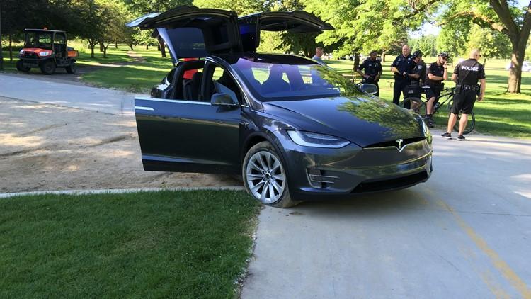 Police: Man drove Tesla onto Boise River Greenbelt