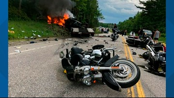 Truck driver charged with 7 homicides in NH motorcycle crash
