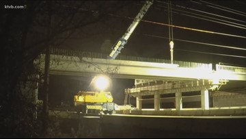 I-84 westbound closed overnight while work continues on Cloverdale overpass