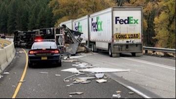 Eastbound I-84 reopens after truck crash near La Grande
