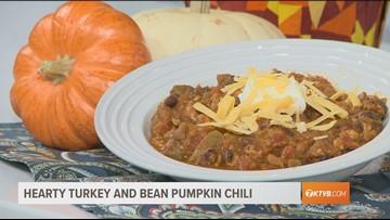 Hearty Turkey and Bean Pumpkin Chili