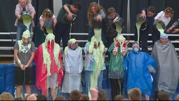 Boise students beat fundraising goal, get to slime teachers