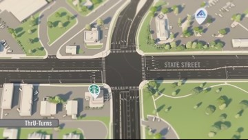 'Thru-turn' intersection opens at State Street and Veterans Memorial Parkway