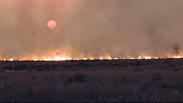 Pot Hole Fire south of Hammett grows to 70,000 acres