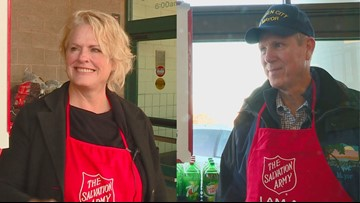 Meridian, Garden City mayors take Salvation Army's Red Kettle Challenge for charity