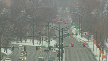 First big snowfall in the Treasure Valley means slick roads for Monday morning commute