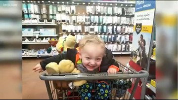 Random act of kindness at Nampa Walmart brings big smile to face of little boy