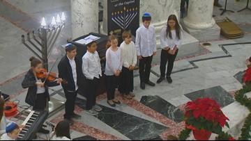 Hanukkah celebration fills Idaho Statehouse Rotunda