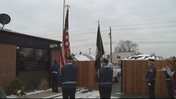 Boise brewery holds flag raising ceremony during halftime of the Army-Navy game
