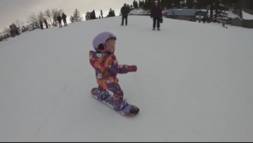 One of Boise's most famous - and youngest - snowboarders rides again for 2nd birthday