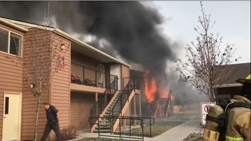 Families displaced, officer treated after Weiser apartment fire