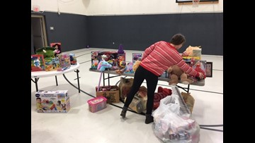 Where's Larry? Nampa Salvation Army, Toy distribution begins