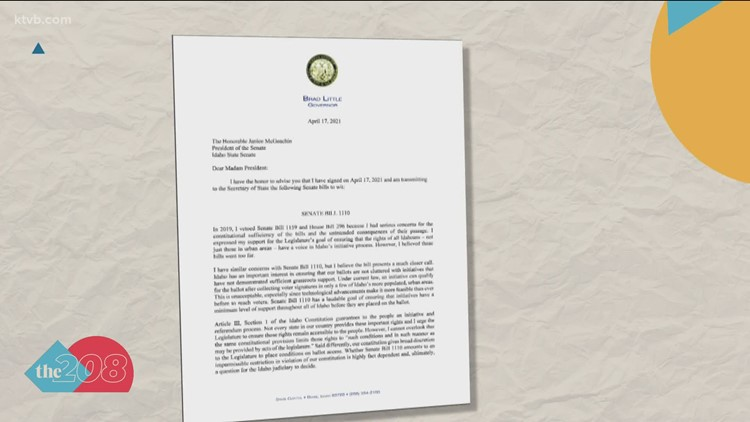 Gov. Little signs voter initiatives bill into law