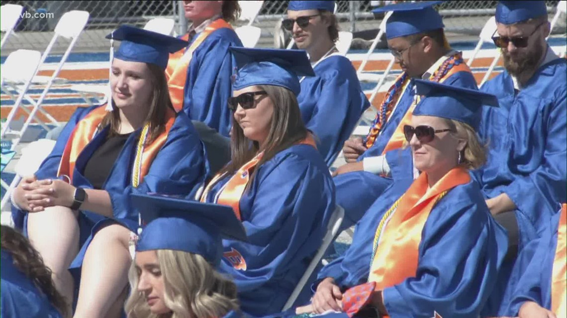 Boise State University honors 2020, 2021 graduates during 108th commencement