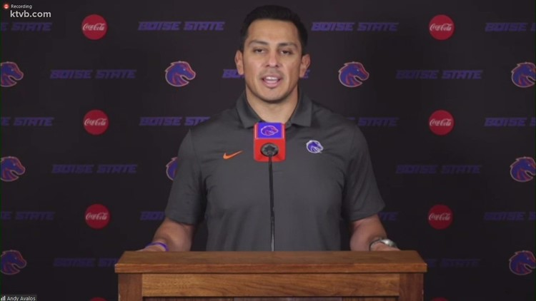 Boise State coach Andy Avalos talks spring ball, QB competition