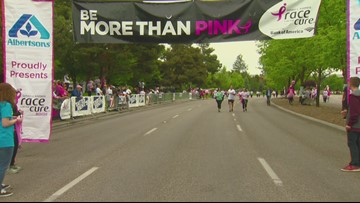 Race For The Cure Finish Line 48:37-1:03:36