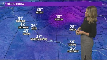 Weather forecast for Sunday, December 9