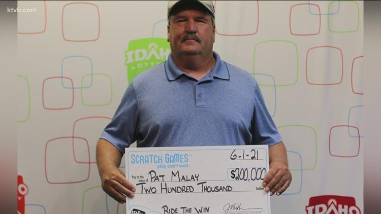 Weiser man collects $200K lottery winner
