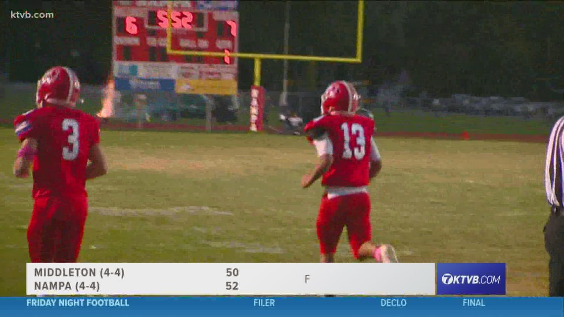 Friday Night Football: Middleton and Nampa have an offensive shootout in week 8