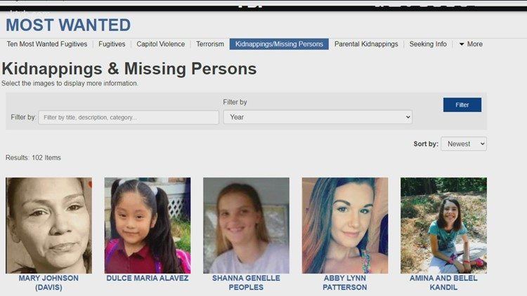 Missing person cases and racial disparity