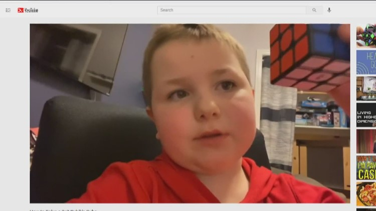 7-year-old Nampa boy teaches others how to solve the Rubik's Cube