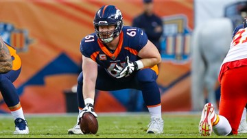 Former Boise State and Denver Bronco Matt Paradis signs with the Carolina Panthers