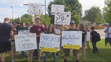 Middleton students march to school board meeting in support of dismissed principal