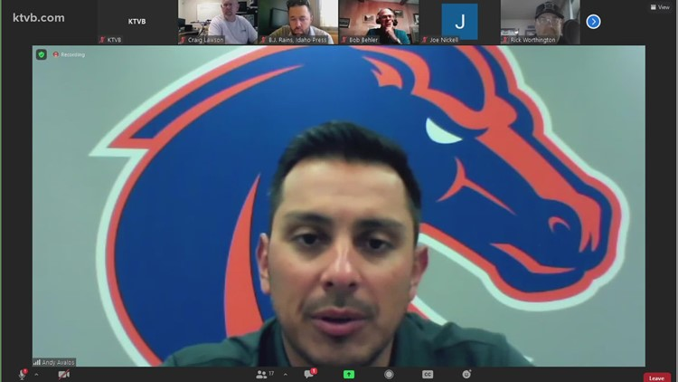 Boise State football head coach Andy Avalos discusses preparing the team to play in front of a crowd