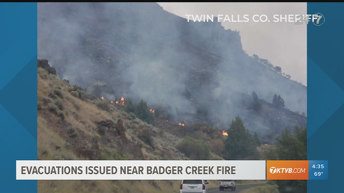 Evacuations issued near Badger Creek Fire