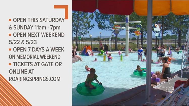 Roaring Springs Waterpark to open Saturday