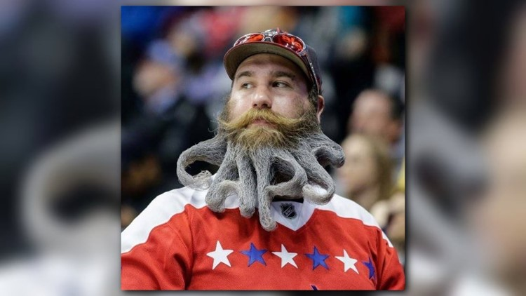 Eric - and his beard - are big fans of the Washington Capitals hockey team.