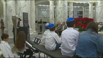 Hanukkah celebration at Idaho Statehouse