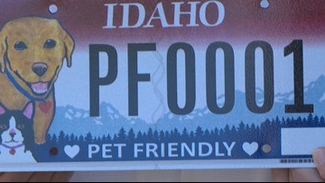 Pet-friendly license plates now available in Idaho