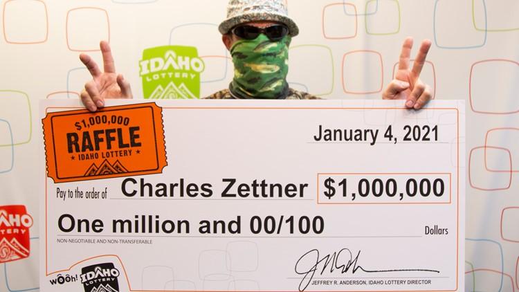 Idaho Raffle winner claims $1 million prize