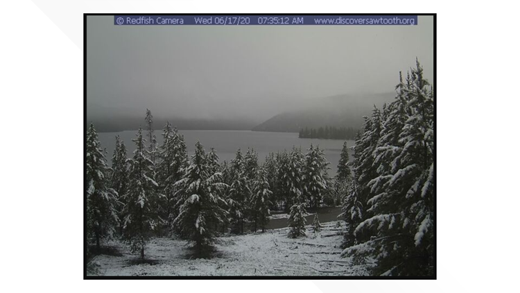 Bogus Basin, Redfish Lake get two inches of snow overnight