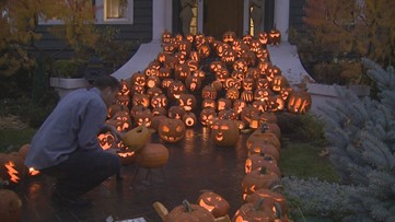 From pumpkins to disco balls, Harrison homeowner starts new Halloween tradition
