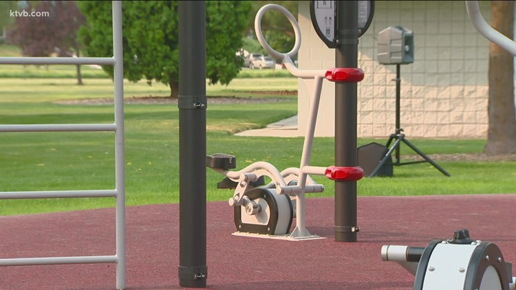 New outdoor gym now open in Nampa park