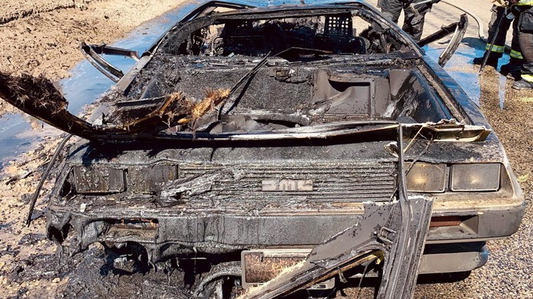 Caldwell Fire says 'the flux capacitor seems the likely culprit' in DeLorean car fire