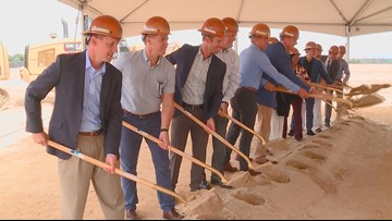 New office building breaking ground near I-84 in Meridian where the Farmstead Corn Maze once stood