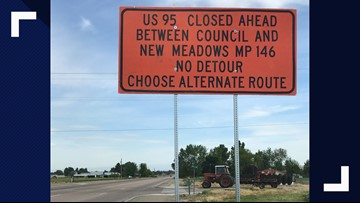 Idaho Transportation Department posts incorrect signs about Highway 95 closures near Council