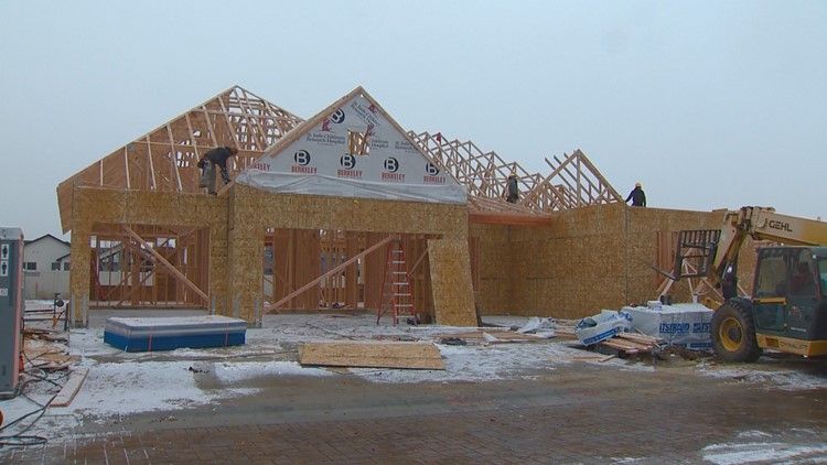 Framing goes up on the 2020 St. Jude Dream Home