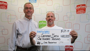 Pocatello truck driver wins $100,000 on lottery scratch game