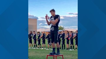 7's Hero: Kuna High School football player signs the national anthem at a home game, and the video goes viral