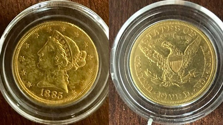 1885 gold coin donated to Salvation Army red kettle