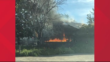 Boise Fire responds to house fire near Maple Grove and Victory roads