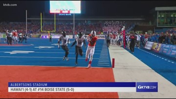 Extended highlights and interviews from Boise State's 59-37 win over Hawai'i